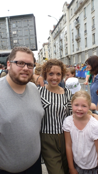 Ben, me, and the darling Camille at the start line July 19, 2014 Grenoble, France