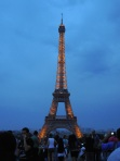 Eiffel Tower at Night - Paris France - by Anika Mikkelson - Miss Maps