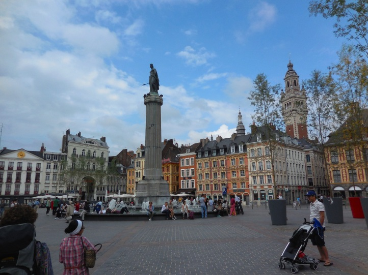 The city centre of Lille, France