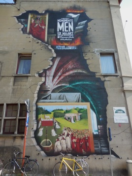 Monument Men is a film based in part on Ghent's famous Van Eyck painting called Het Lam Gods, or Adoration of the Mystic Lamb  Ghent, Belgium July 22, 2014