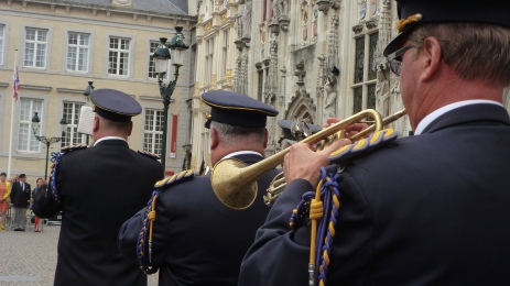 The Princess's welcoming band Bruges, Belgium July 21, 2014