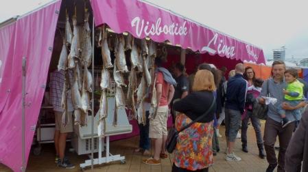 Fish stands Oostende, Belgium