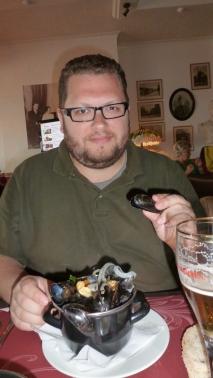 Who eats mussels when we're near Brussels?