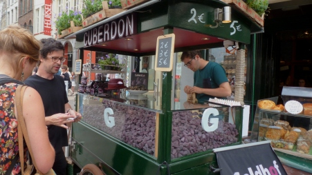 Cuberdon Candy: Purple Noses made of Arabic gum and raspberry juice Bruges, Belgium