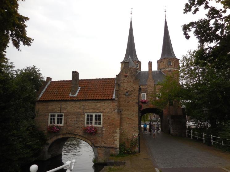 The city's last entrance gate Delft, The Netherlands July 29, 2014