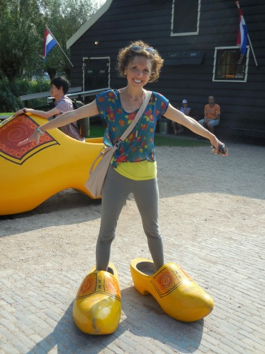 Cloggin the streets Zaanse Schans, The Netherlands July 31, 2014