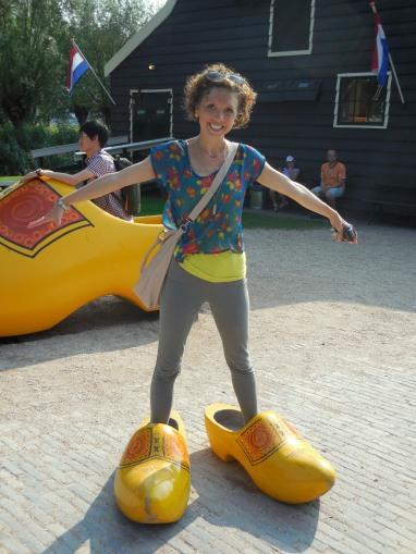 Cloggin the streets Zaanse Schans, The Netherlands July 31, 2014