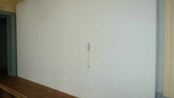Yoko Ono's art piece at the museum Casino Luxembourg: if the phone rings, it is 100% sure to be her on the other line. If you answer, you get to chat with her! Luxembourg City, Luxembourg July 27, 2014