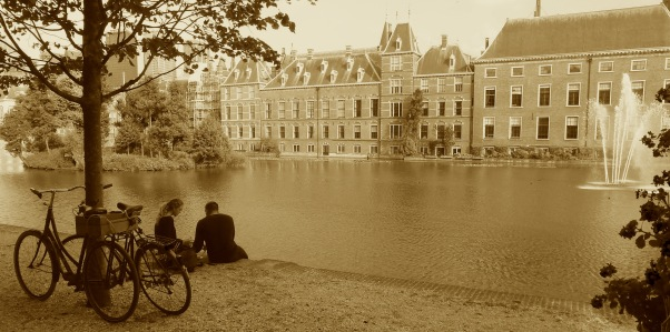 Across the lake from Mauritshis Den Haag, Netherlands July 30, 2014