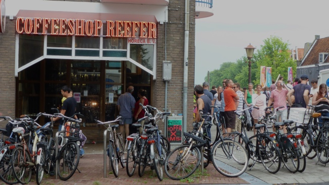 One of Amsterdam's notorious coffee shops