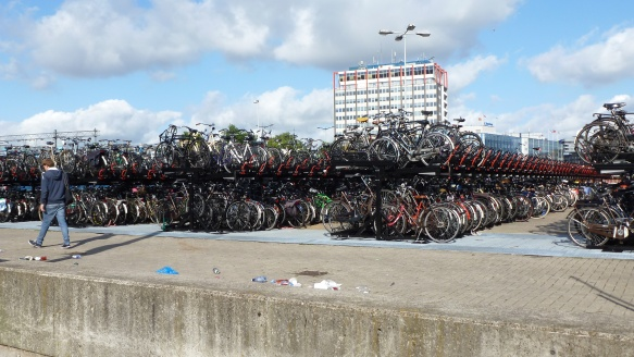 Bikes near Central Station Amsterdam