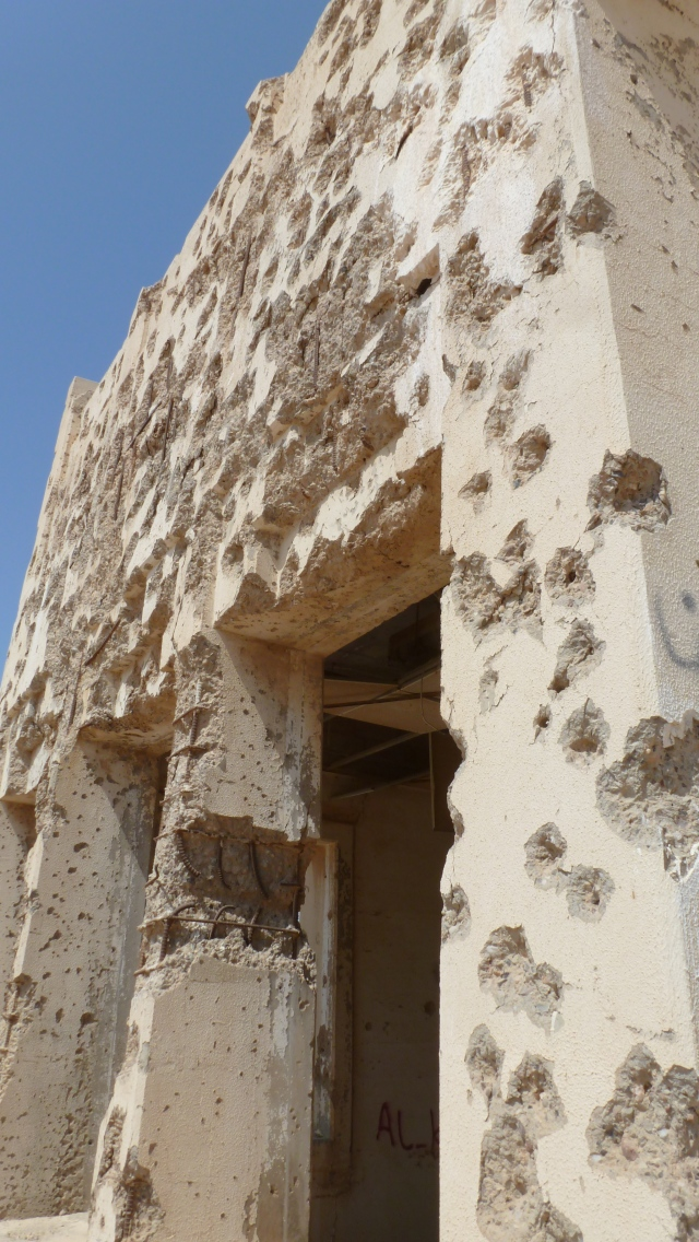 Exterior of an Abandoned Bank of Failaka Island, Kuwait - by Anika Mikkelson - Miss Maps