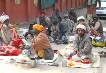 Men Sit on the Streets of Jaipur, India - by Anika Mikkelson - Miss Maps