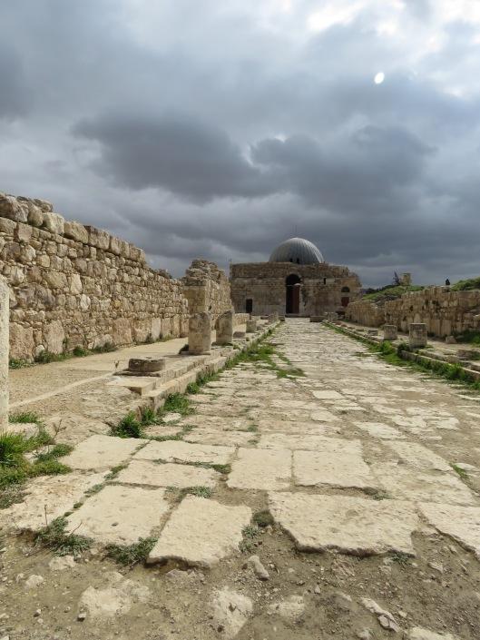 Crescent Moon above the hilltop Mosque - Amman, Jordan