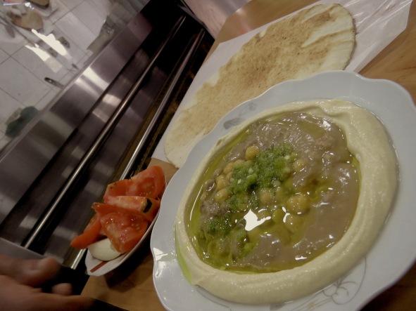 Homemade Hummus From a Local Diner - Amman, Jordan