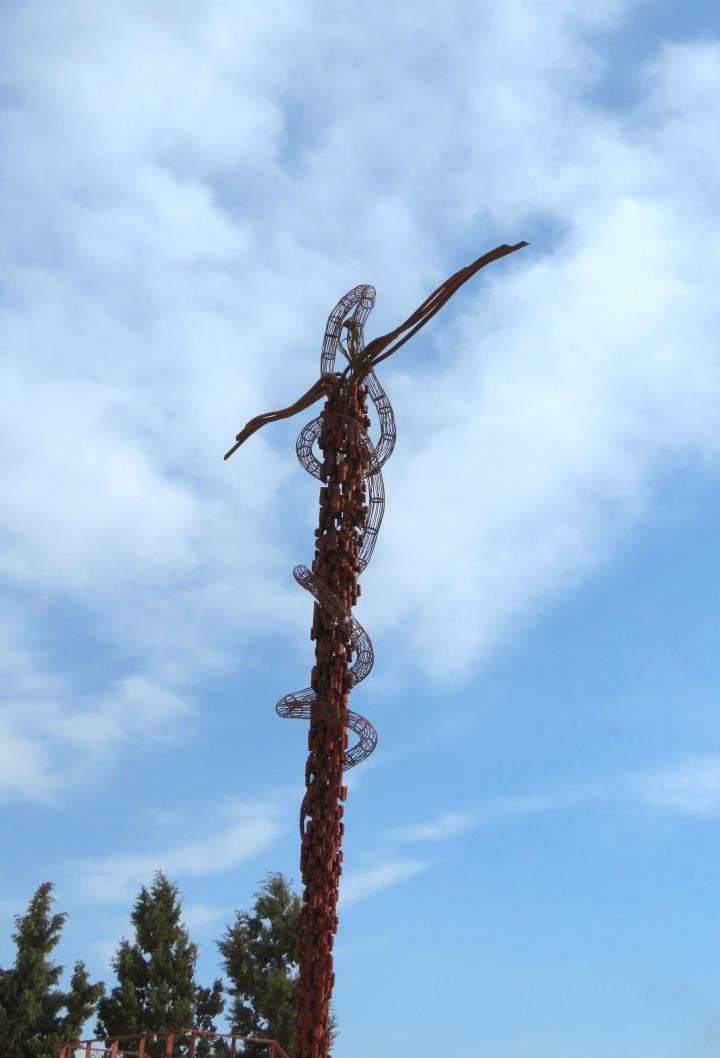 The Brazen Serpent Sculpture at Mount Nebo