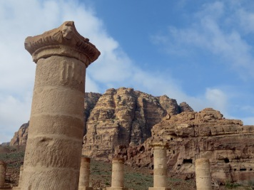 Columns still stand at the Great Temple of Petra - by Anika Mikkelson - Miss Maps - www.MissMaps.com