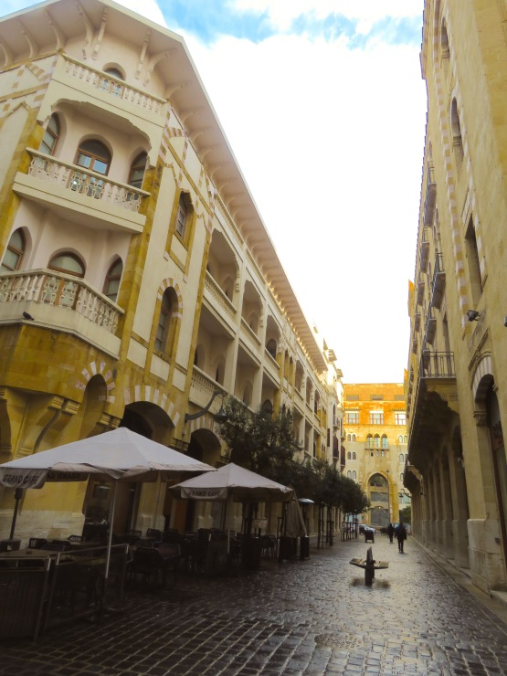 Downtown Beirut is filled with picturesque cafes and shops