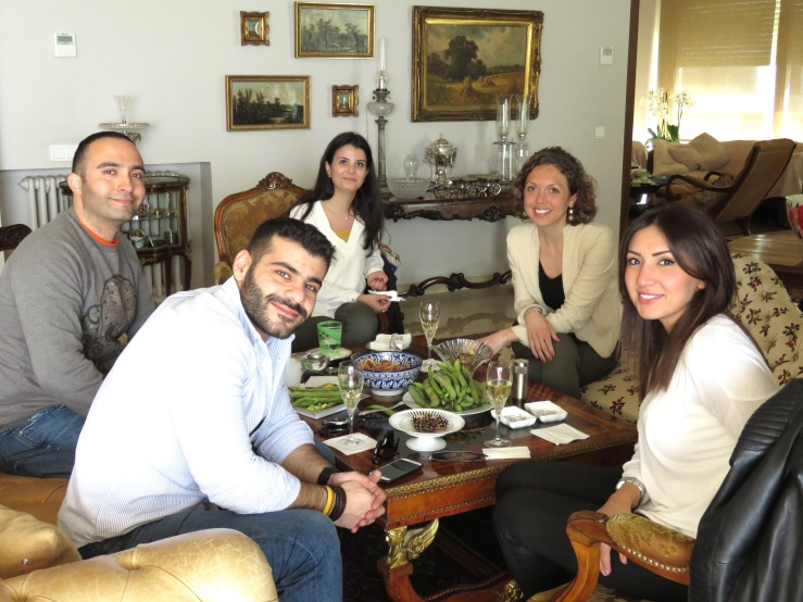 Enjoying Lunch with some amazing friends and hosts