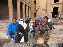 Making Friends in Petra Jordan - Anika Mikkelson - Miss Maps - www.MissMaps.com