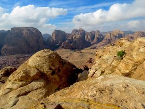 View of Petra's valley near the Monastery - by Anika Mikkelson - MissMaps - www.MissMaps.com