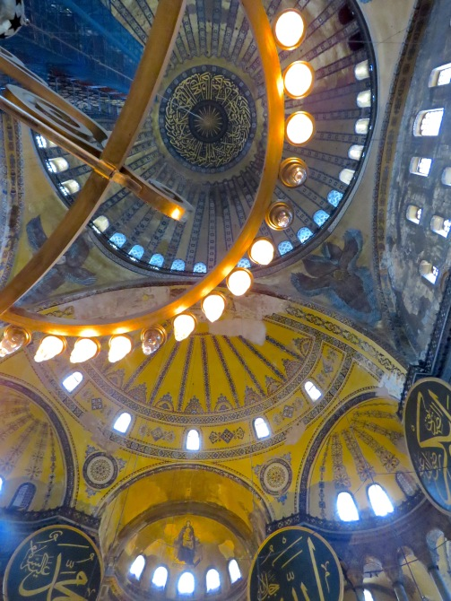 The Hagia Sophia's glowing ceiling
