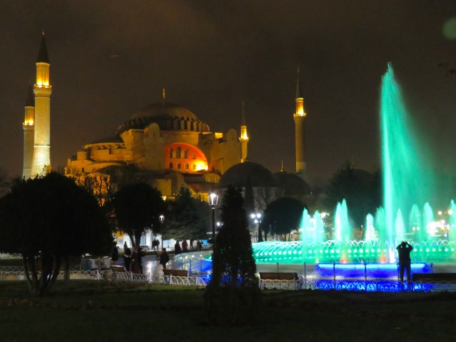 The Hagia Sophia and it's colorful dancing fountain