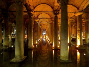 Dimly Lit Waterways of Basilica Cistern