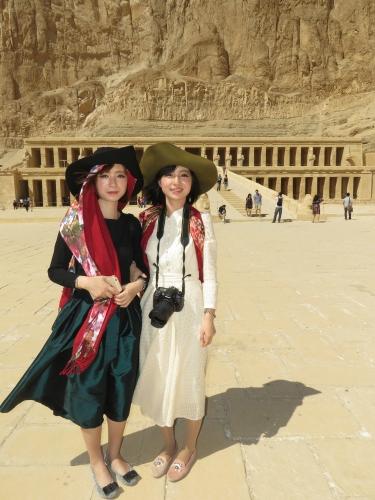 Fashionable Tourists - Luxor Egypt - February 2015