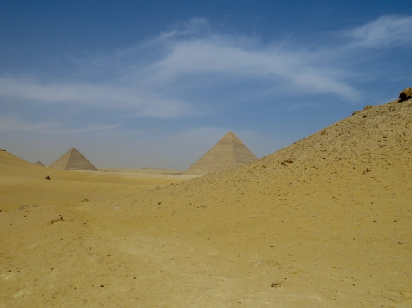 The back way in to Giza's Pyramids