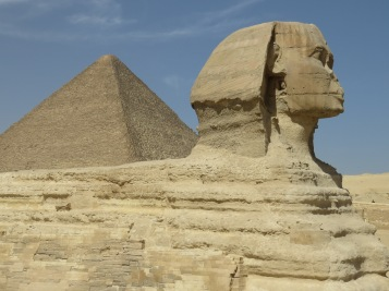 The Great Sphinx and her Pyramid - Giza, Egypt - by Anika Mikkelson - Miss Maps