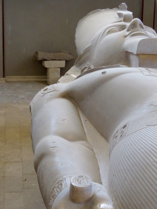 Colossus of Ramses II, a statue over 10 meters in length (or height?!)