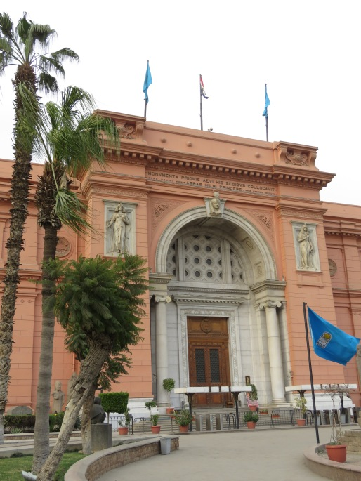 The Museum of Cairo, home to King Tut's golden mask