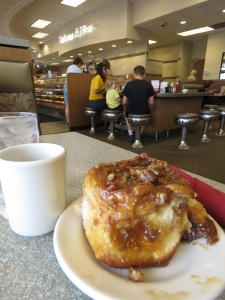 Tobie's Cafe Minnesota Cinnamon Roll and Coffee
