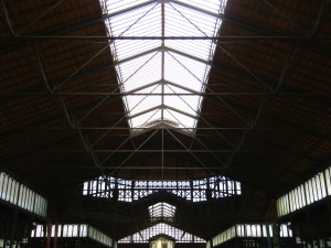 Interior of Market del Born - Barcelona, Spain