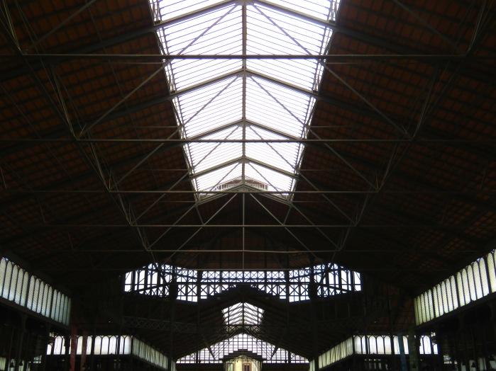 Interior of Market del Born - Barcelona, Spain