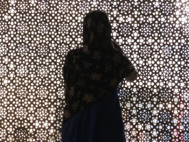 Silhouettes in a Mosque of Jaipur's Red Fort - by Anika Mikkelson - Miss Maps
