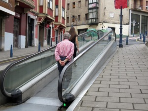 Moving Walkways - Portugalete, Spain - July, 2015