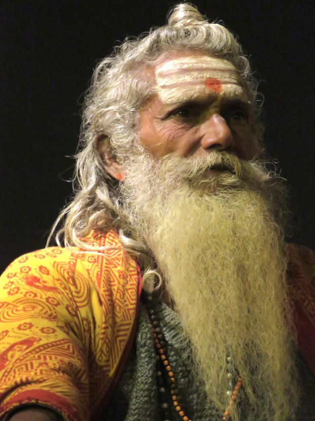 A Hindu Man during a performance of the