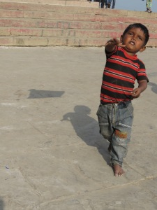 Kite Flying at River Ganges - Varanasi India
