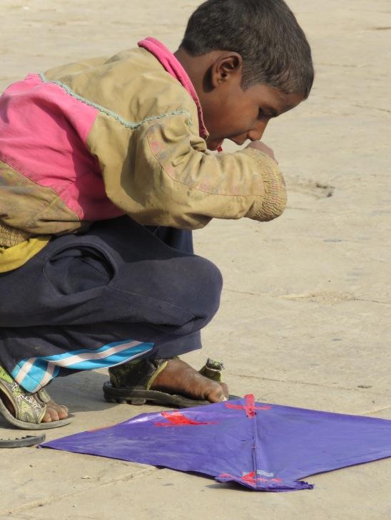 Kite Flying at River Ganges - Varanasi India