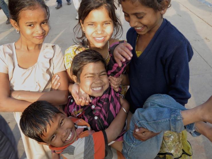 Sibling Fun - River Ganges - Varanasi India
