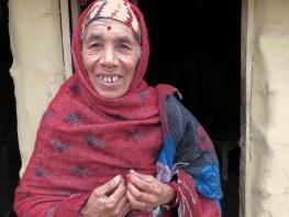 "I call her ""Bajai (Grandmother) Buddha"" - a beautiful woman in Lumbini, Nepal - December 2014 - by Anika Mikkelson - Miss Maps"