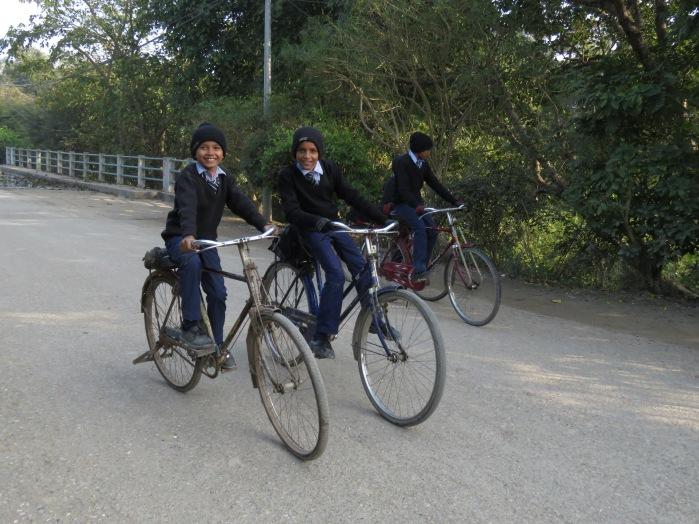 Biker Boys - Lumbini, Nepal - December 2014