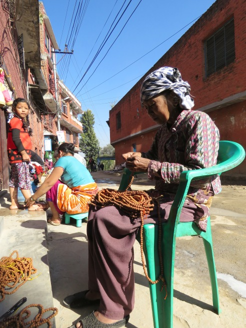Mala Making - - Kathmandu, Nepal