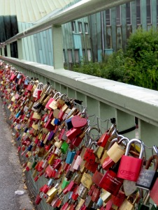 Lock Bridge, Hamburg Germany - July 2015