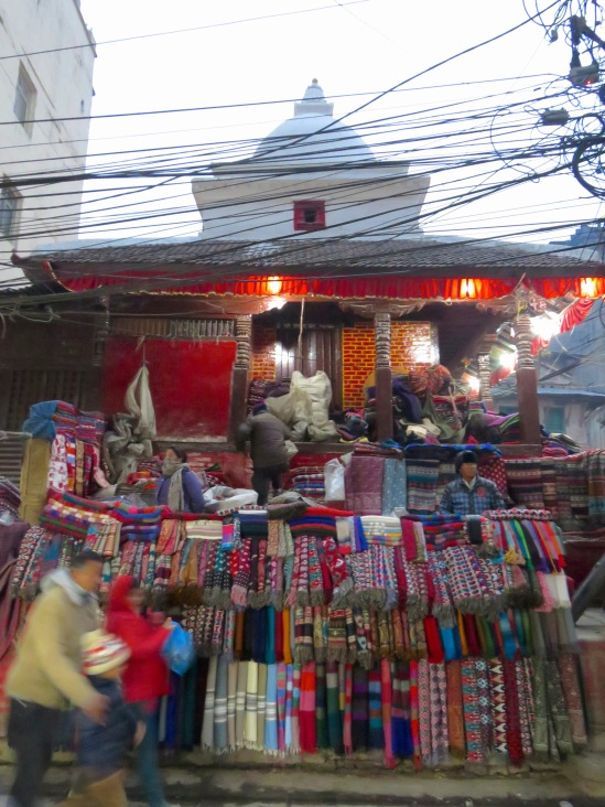 Authentic silks and fabrics of all colors line the streets of Kathmandu, Nepal. Find other striking photographs at www.beautifulfillment.com
