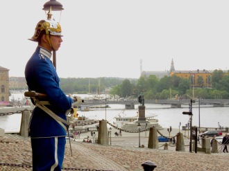 Standing Guard Outside Sweden's Royal Palace - Stockholm, Sweden - by Anika Mikkelson - Miss Maps