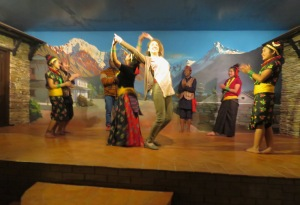 Dancing on Stage- New Year's Day - Kathmandu, Nepal