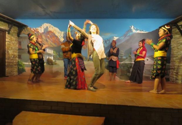 Dancing on Stage- New Year's Day - Kathmandu, Nepal